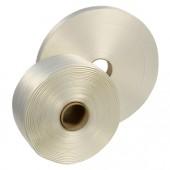 Polyester-Textilumreifungsband weiss geklebt