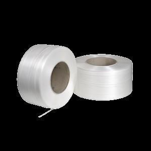 Nastro di reggiatura in polipropilene imprimato bianco